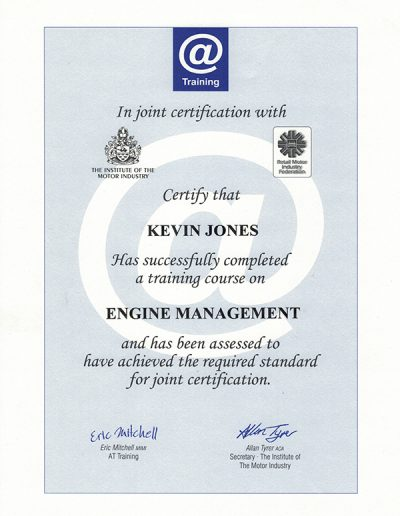 KJ engine management